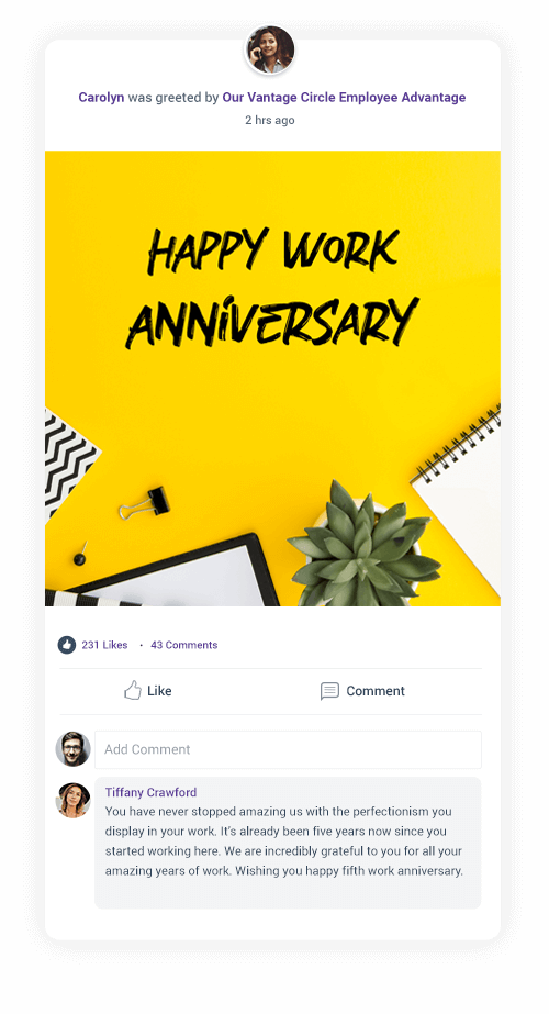 50 Appreciative Work Anniversary Wishes And Quotes For Employees And Peers