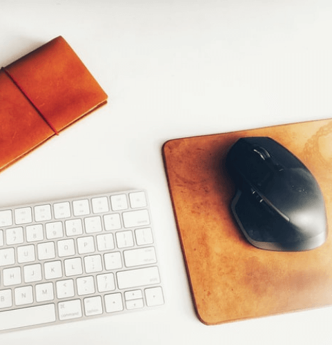 secret-santa-gift-ideas-for-coworkers-leather-mouse-pad