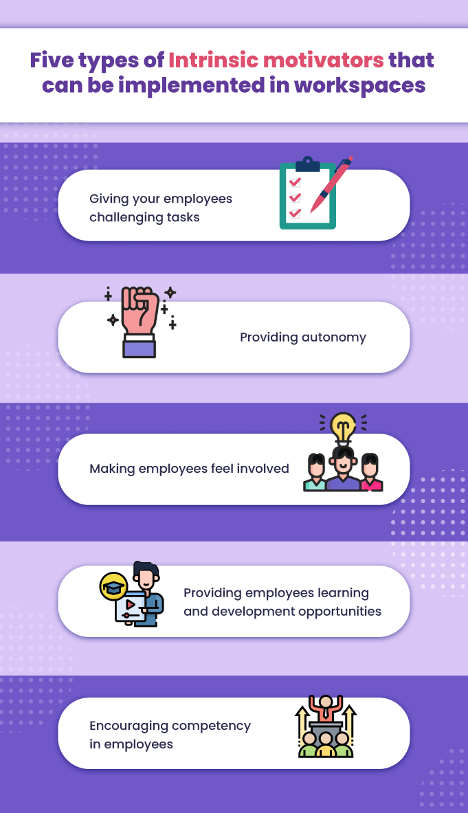 Types of Intrinsic Motivators in workplace