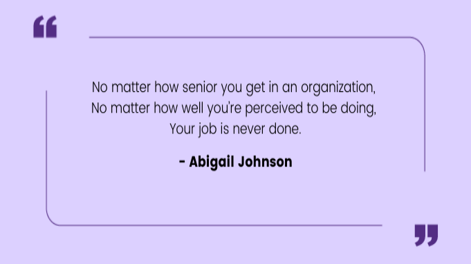 Quotes by Women Abigail Johnson