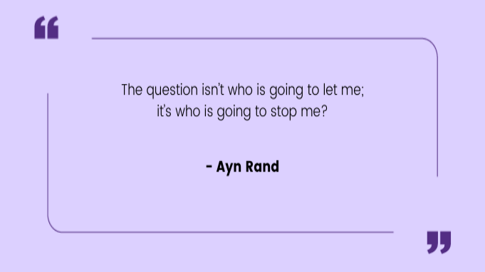 Quotes by Women Ayn Rand