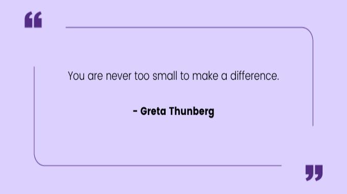 Quotes by Women Greta Thunberg