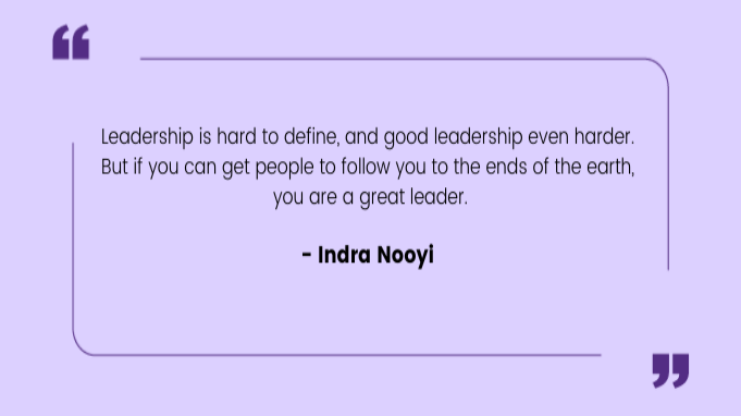 Quotes by Women Indra Nooyi