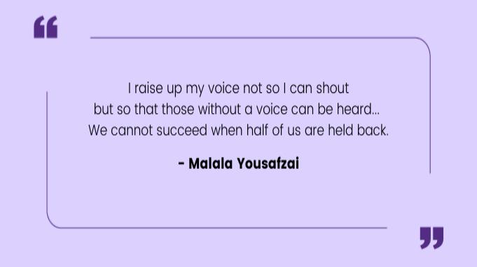 Quotes by Women Malala Yousafzai