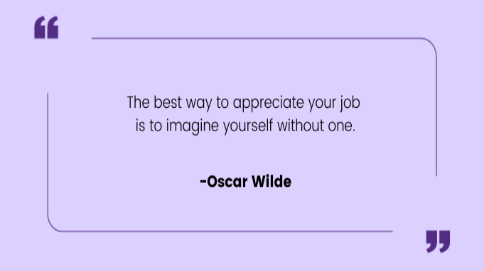 Funny work quotes by Oscar-Wilde