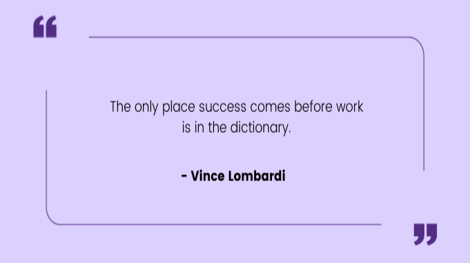 Funny work quotes by Vince Lombardi