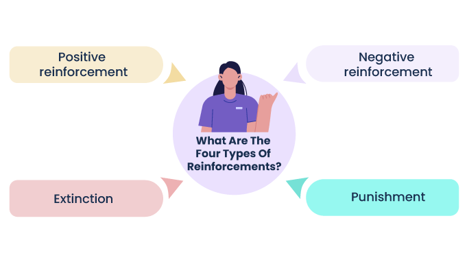 Four type of reinforcements in reinforcement theory